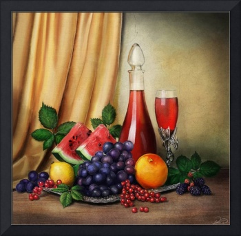 Classic Still Life with fruits