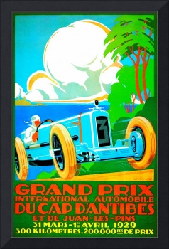 Vintage Advertisement Europe Auto Race Rally