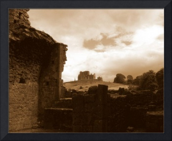 The Rock of Cashel from the Ruins