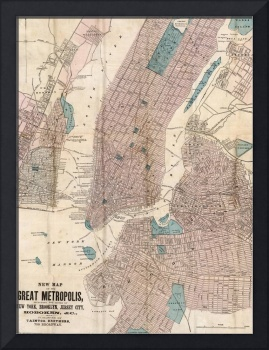 Vintage Map of New York City (1867)