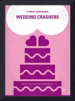 No437 My Wedding Crashers minimal movie poster