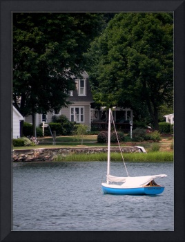 Sailboat in Mystic River
