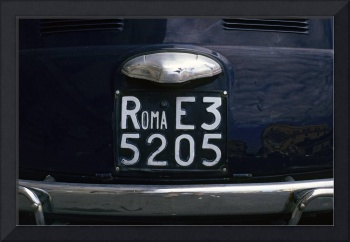 Rome Licence Plate
