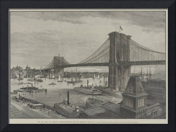 The New York and Brooklyn Suspension Bridge from t