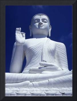 Large Seated White Buddha Sri Lanka, Asia
