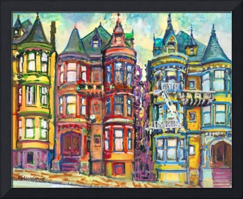 San Francisco Bright Victorian Row Houses