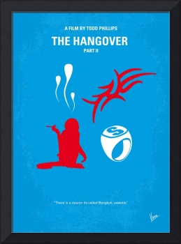 No145 My THE HANGOVER PART 2 minimal movie poster