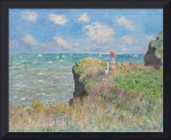 Cliff Walk at Pourville by Monet