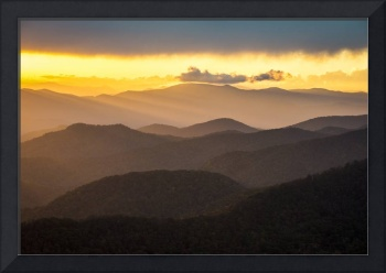 Blue Ridge Parkway Sunset - Appalachian Gold
