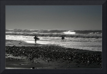Surfers and Winter Waves