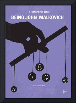 No009 My Being John Malkovich minimal movie poster