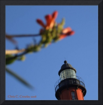 Top Of the Lighthouse With Flowers