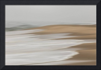 A Gray Day At The Beach Abstract Art For Sale