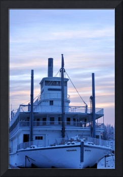 Winter Stern Wheeler River Boat - Alaska