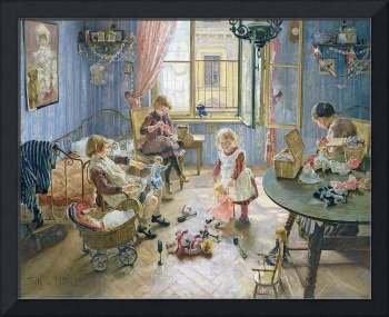 The Nursery, 1889 (oil on canvas)
