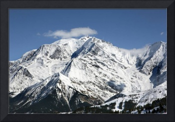 Mt Blanc with cloud