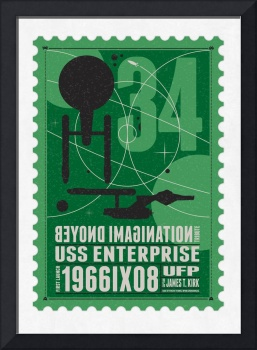 Starships 34-poststamp -USS Enterprise
