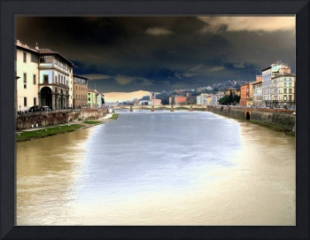 Bridge over Arno after Sunset 3