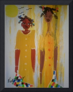 Dish Rag Babies ( series ) Yellow Dresses 1