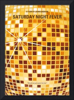 No074 My saturday night fever minimal movie poster
