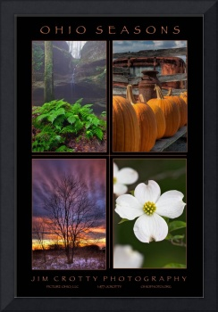 Ohio Seasons Four Image Poster Print