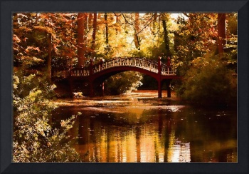 Crim Dell Bridge digital water color