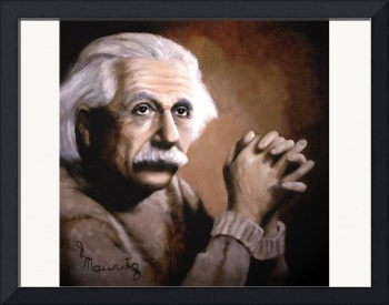 Einstein oil painting