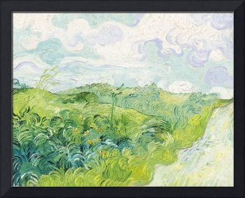 Green Wheat Fields, Auvers by Van Gogh