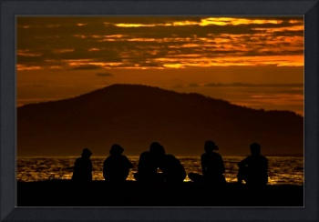 People enjoying the sunset - Galapagos