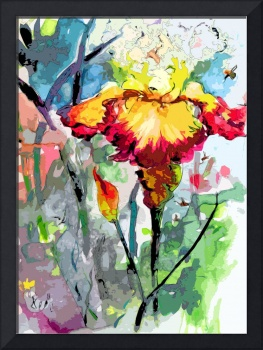 Modern Decor Flower Art Bearded Iris Ginette