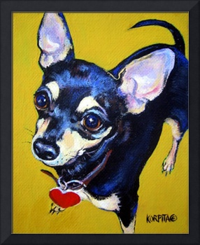 Little Bitty Chihuahua - Funny Black Tan Chihuahua