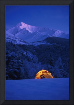 Tent Decorated Christmas Lights Chugach NF KP Alas