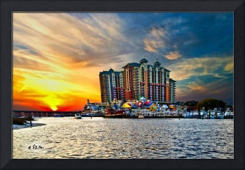 Sea Sunset Destin Emerald Grande Harbor Walk Art