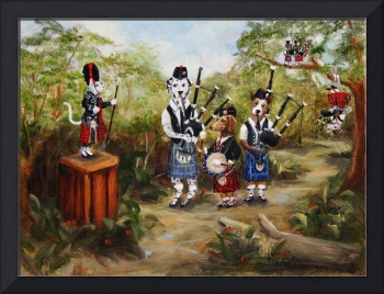 Elinor's Bagpipe Band- SM Violano Cat Dog Opossum