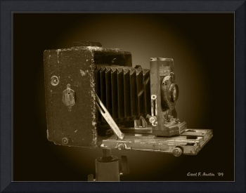 Vintage Antique Camera in Sepia Tones