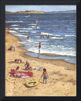 people on bournemouth beach Blue Sea