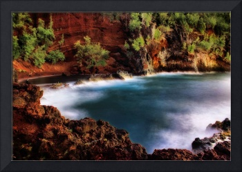Red Sand Beach Cove - Hana Maui, Hawaii