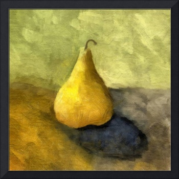 Pear Still Life with Green and Brown