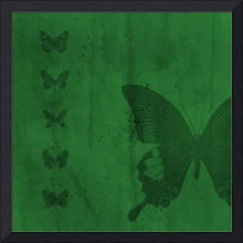 Butterflies green