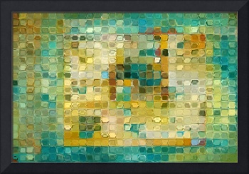 Tile Art #5, 2016. Turquoise Gold Mosaic