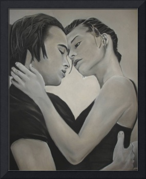 Love and Longing Black and White Charcoal