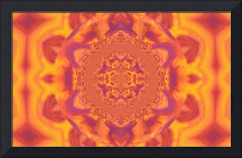 Lotus Mandala in Orange and Yellow Pastels