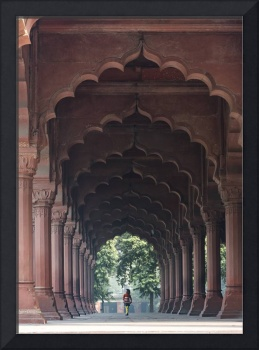 Indian Girl at Diwan-i-Aam, Red Fort, Delhi