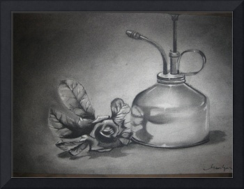 Charcoal, Still life refection