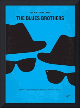 No012 My Blues brother minimal movie poster