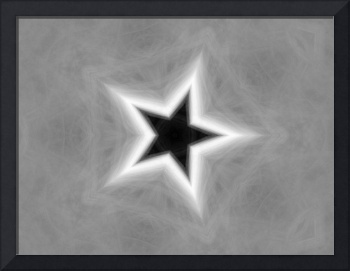 Gray Kaleidoscope Art 26 Star
