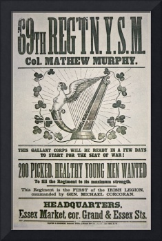 Civil War Recruiting Poster, Irish Legion