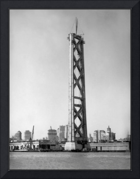 West tower San Francisco Bay Bridge c1935