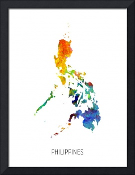 Philippines Watercolor Map