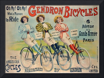 Poster advertising Gendron bicycles